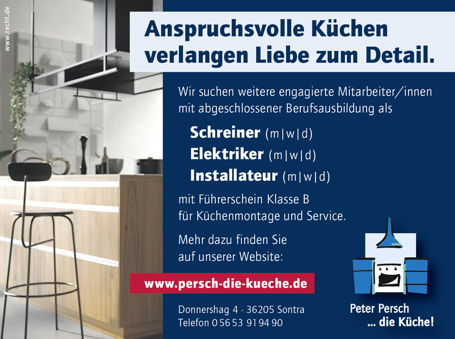 Stellenausschreibung Monteur / Monteurin bei Peter Persch ... die Küche!