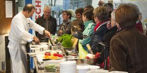 Koch Thomas Stoehr 2016 auf der Messe »Wohnen – Leben – Genießen« in Sontra